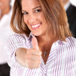 Stock Photo: Business woman - thumbs up