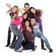 Stock Photo: Casual group of