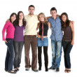 Fullbody group of friends — Stockfoto
