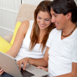 Royalty-Free Stock Photo: Couple on a laptop