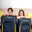 Stock Photo: Couple ready to travel