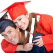 Royalty-Free Stock Photo: Couple of graduates
