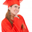 Royalty-Free Stock Photo: Thoughtful graduation woman