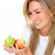 Healthy eating woman — Stock Photo #7703875