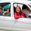 Family in a car — Stock Photo #7703939