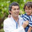 Family doctor outdoors — Stock Photo #7703948