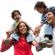 Family having fun — Stock Photo