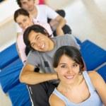 Gym smiling — Stock Photo