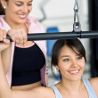 Girls at the gym — Stock Photo
