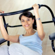 Womexercising her abs — Stock Photo #7704122