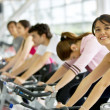Spinning class at the gym — Stock Photo