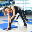 Woman stretching - Stock Photo