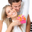 Couple celebrating — Stock Photo