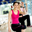 Women at a aerobics class — Stock Photo