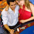Casino couple — Stock Photo