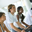 Spinning at the gym — Stock Photo #7704430