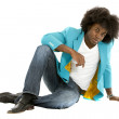 Colourful black man - Stock Photo