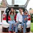 Stock Photo: Family with car