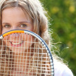 Stock Photo: Female tennis player