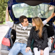 Couple in a car — Stock Photo #7704675