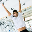 Mdoing chin ups — Stock Photo #7704693