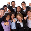 Business group pointing — Foto de Stock
