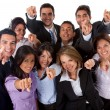 Business group pointing - Stock Photo