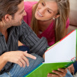 Students at home — Stock Photo #7704752