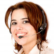 Stock Photo: Woman with a headset