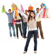 Woman with Shopping bags — Stock Photo #7704813