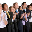 Foto Stock: Business group applauding