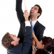 Business man climbing — Stock Photo