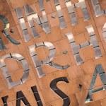 青銅色の金属の背景 — ストック写真