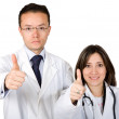 Doctors - thumbs up — Stock Photo