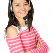 Stock Photo: Beautiful customer services girl