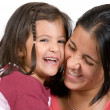 Stock Photo: Girl with her mum having laugh 2