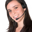 Beautiful Customer Support Girl — Stock Photo #7705014
