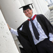 Happy graduate at uni — Stock Photo #7705030
