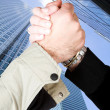 Formal handshake — Stock Photo