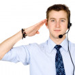 Business customer service guy ready to work — Stock Photo