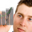 Stock Photo: Business growth chart