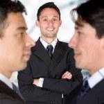 przedsiębiorcy i jego partnerów — Zdjęcie stockowe