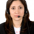 Beautiful Customer Support Girl — Stock Photo #7705087