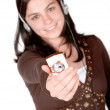 Mp3 on your mobile phone — Stock Photo