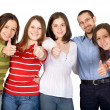 Happy friends - thumbs up — Stockfoto
