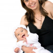 Stock Photo: Baby and her mum