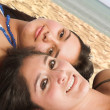 Royalty-Free Stock Photo: Teens at the beach
