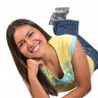 Beautiful casual latin american girl — Stock Photo