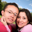 Stock Photo: Lovely couple outdoors