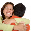 Royalty-Free Stock Photo: Couple in love hugging